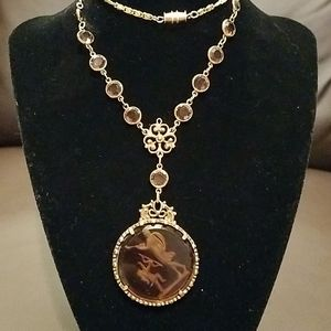 Jewelry - Antique amber angel necklace